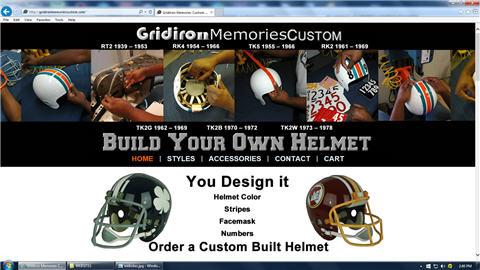 GRIDIRON MEMORIES CUSTOM BUILDS
