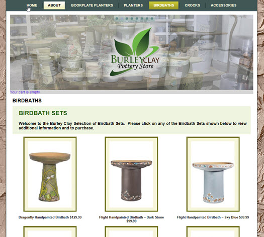 New Site - Burley Clay Store 200 Items -eCommerce